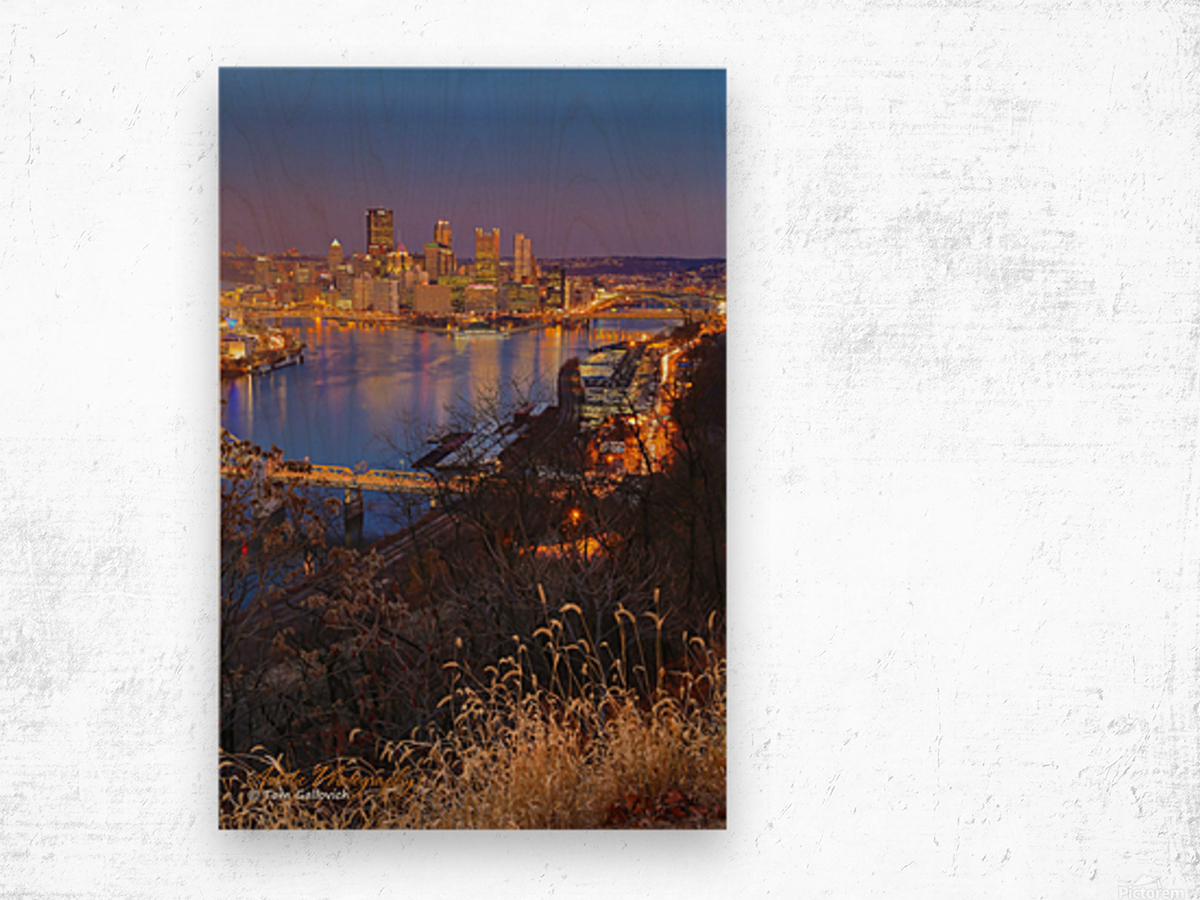 Light Up Night - AP 3190 Wood print