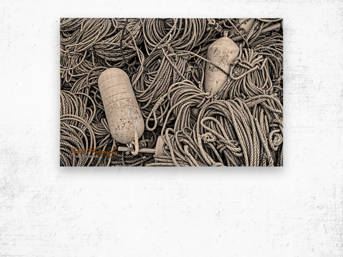 Rope & Buoys - APC-297 Wood print