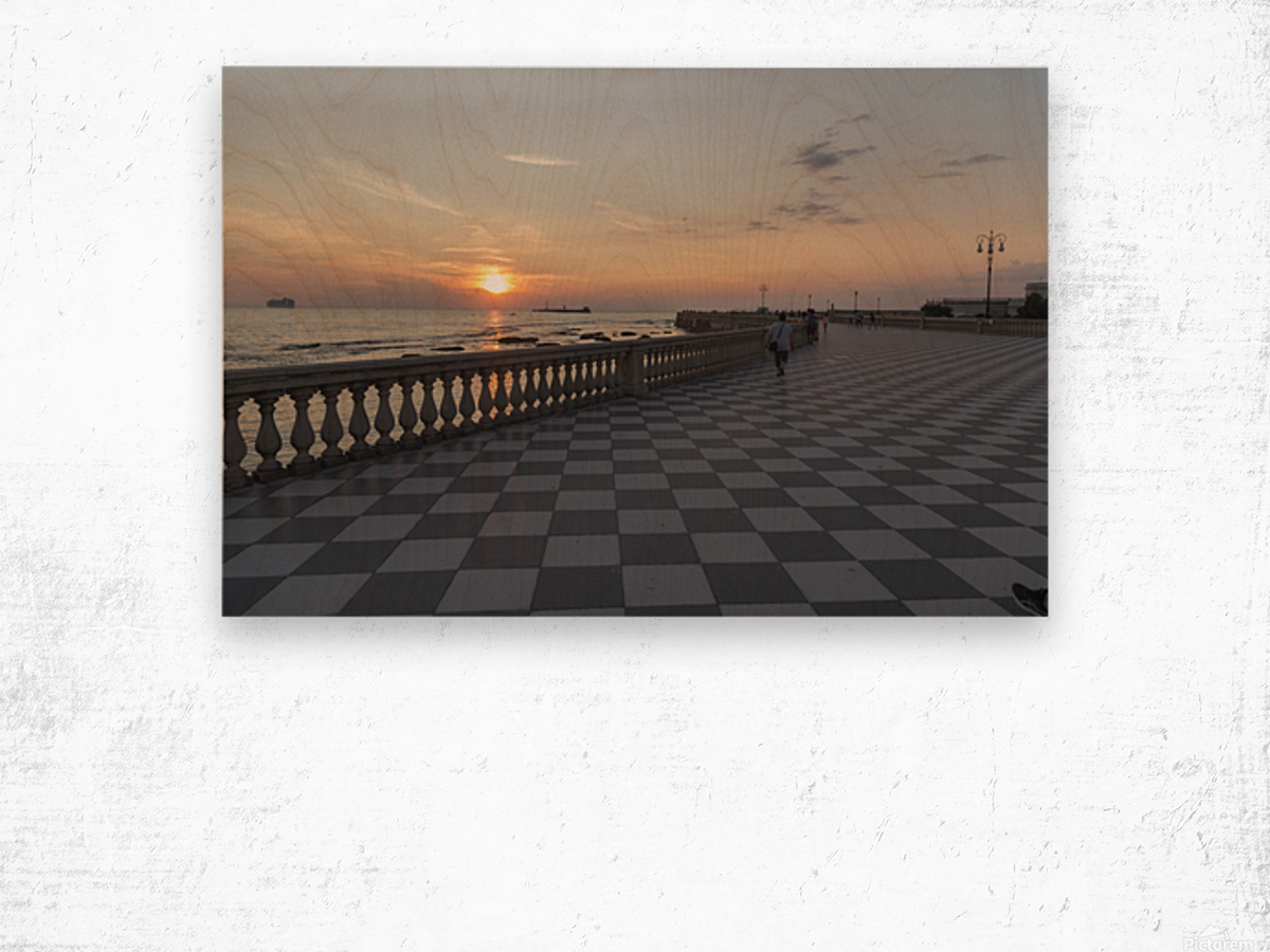 Tramonto a Livorno Wood print