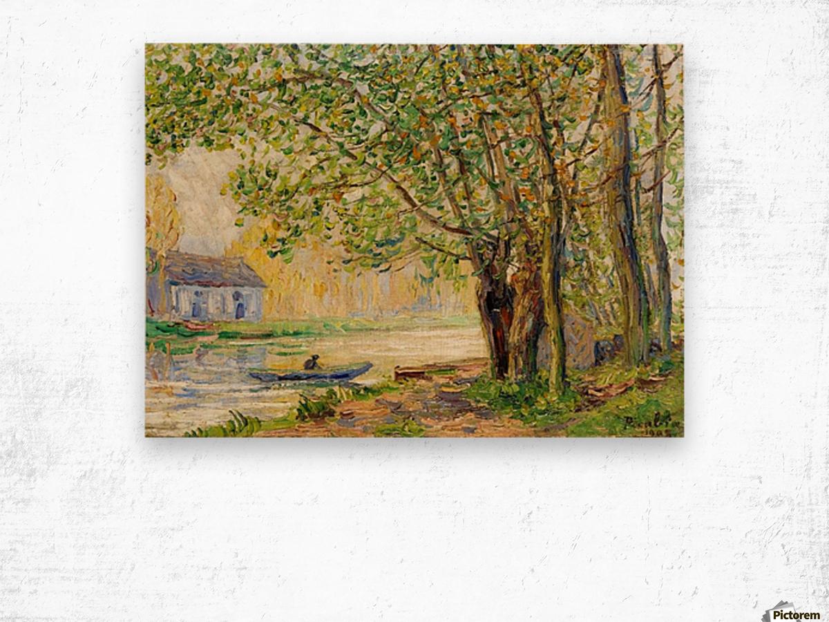 Moret-sur-Loing Wood print