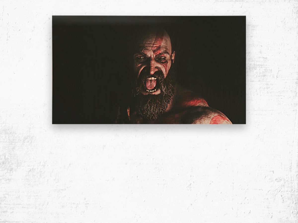 Hidden Beneath | God of War Wood print