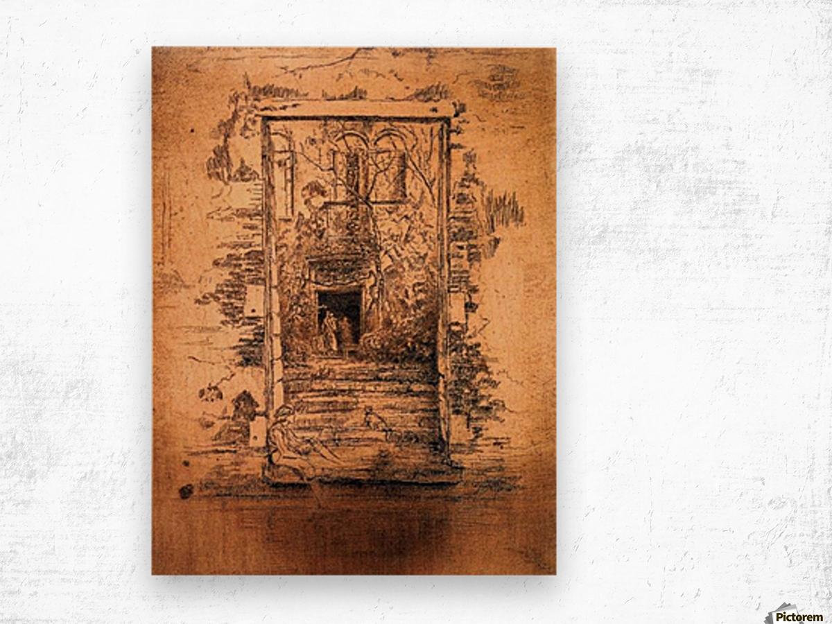 Garden by Whistler Wood print