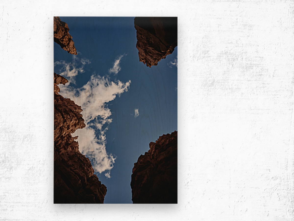 Zion from Below Wood print