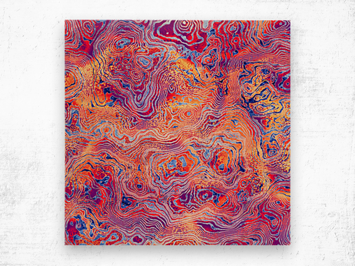 Abstract Marble IV Wood print