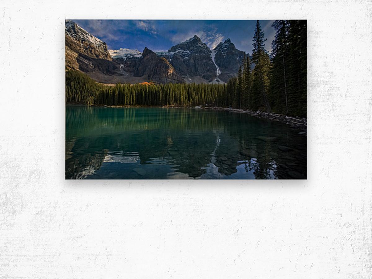 Moraine Lake  Wood print