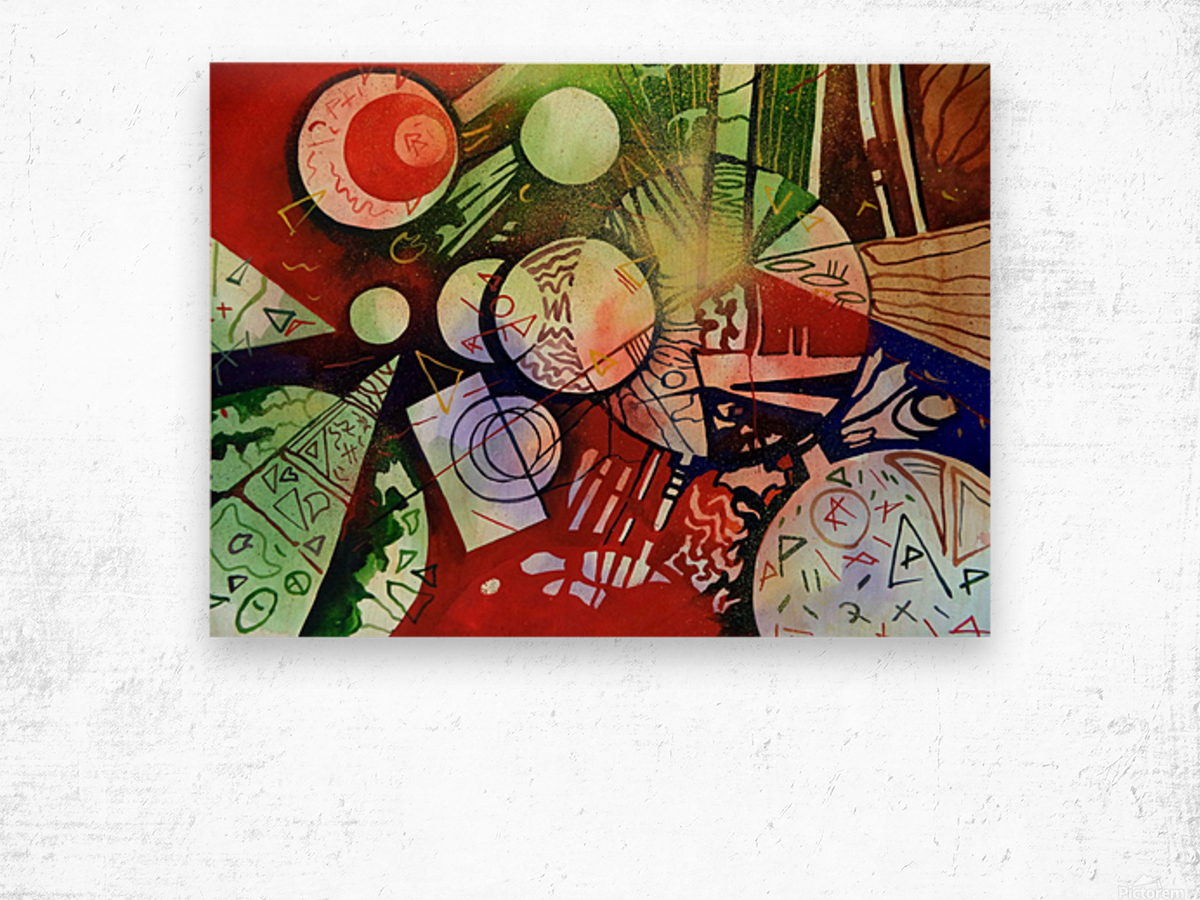 Abstraction Wood print