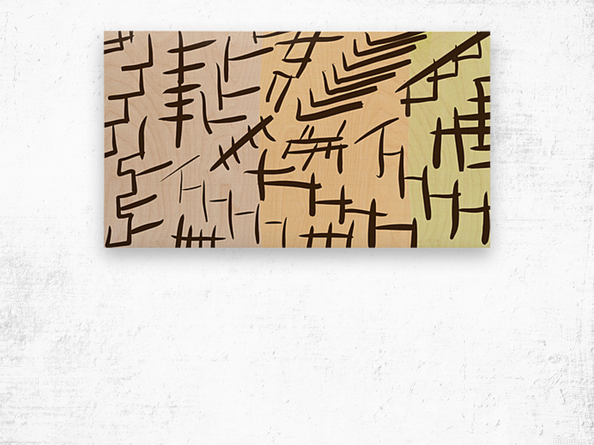 Chinesque Wood print