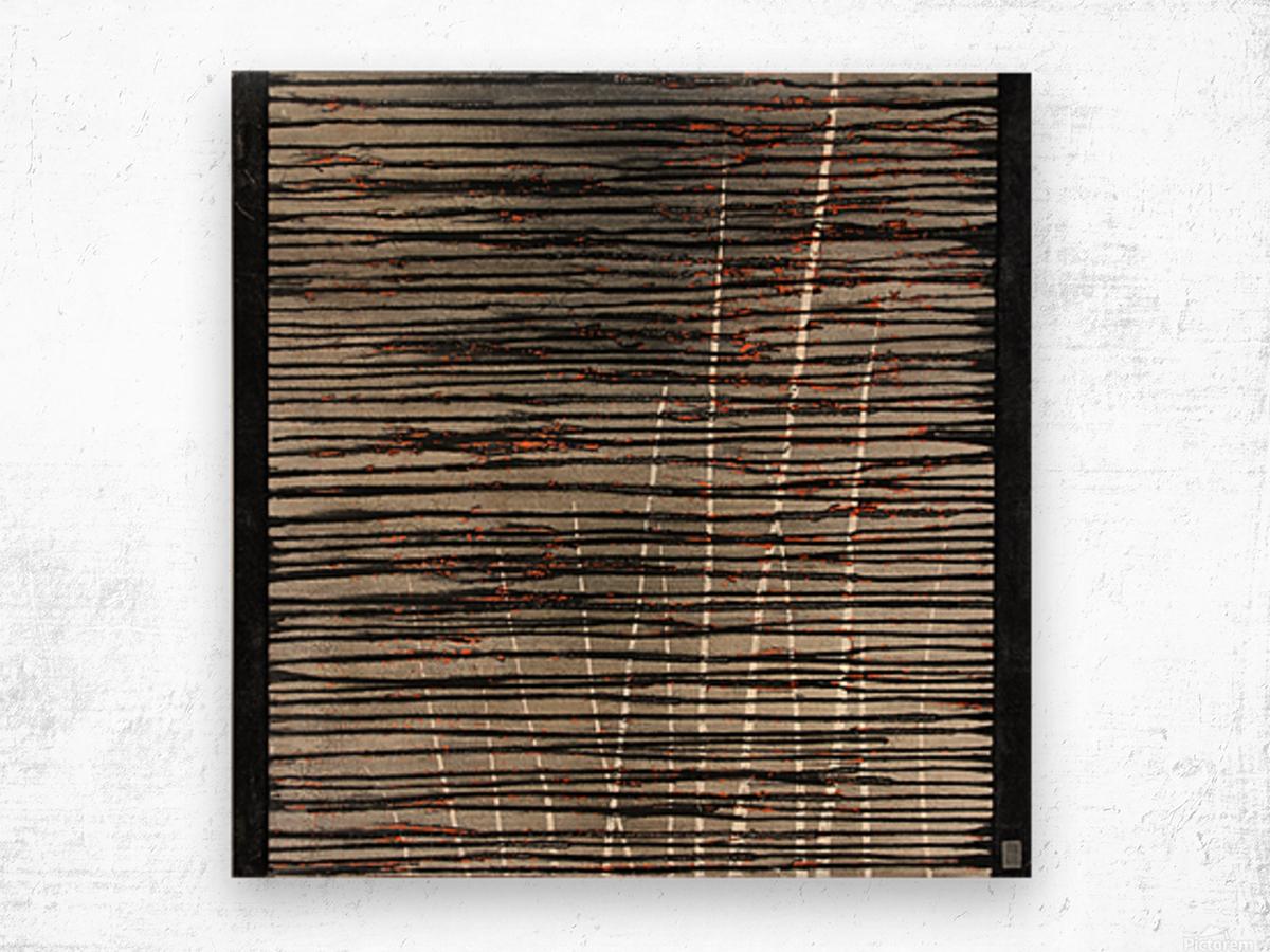 Létang dépassé - Contemporary Art Impression sur bois