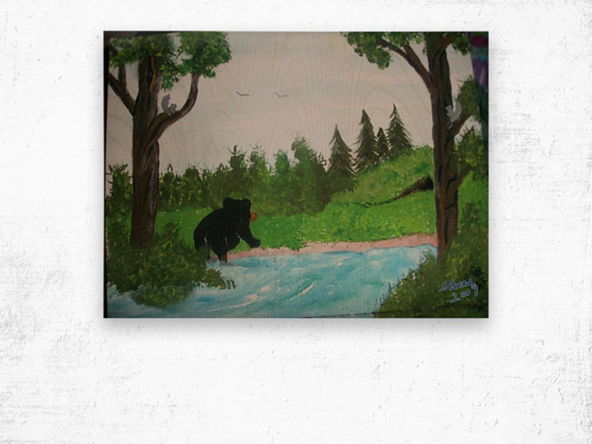 Bear territory  Wood print