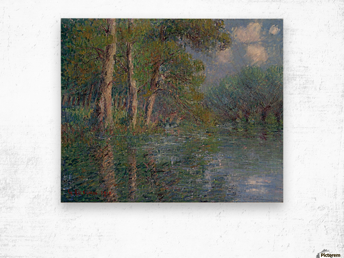 The Bend of the Eure Wood print