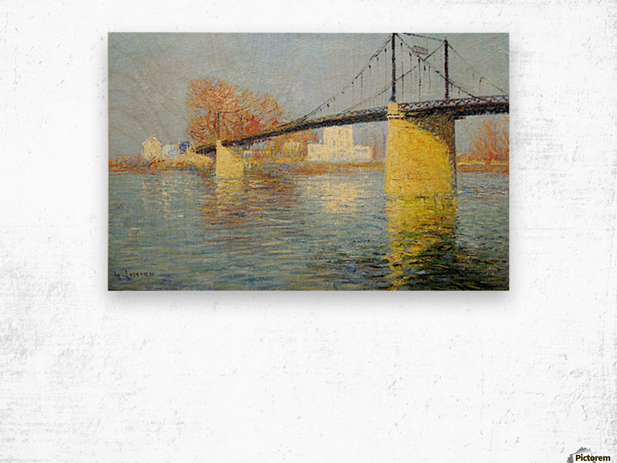 The Banks of the Seine, Triel Wood print