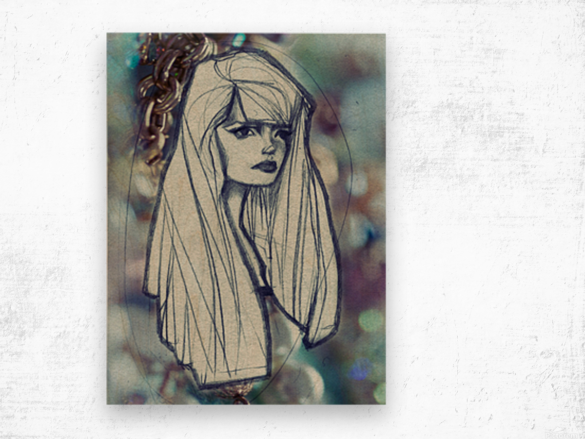 Chevelure 2 Wood print