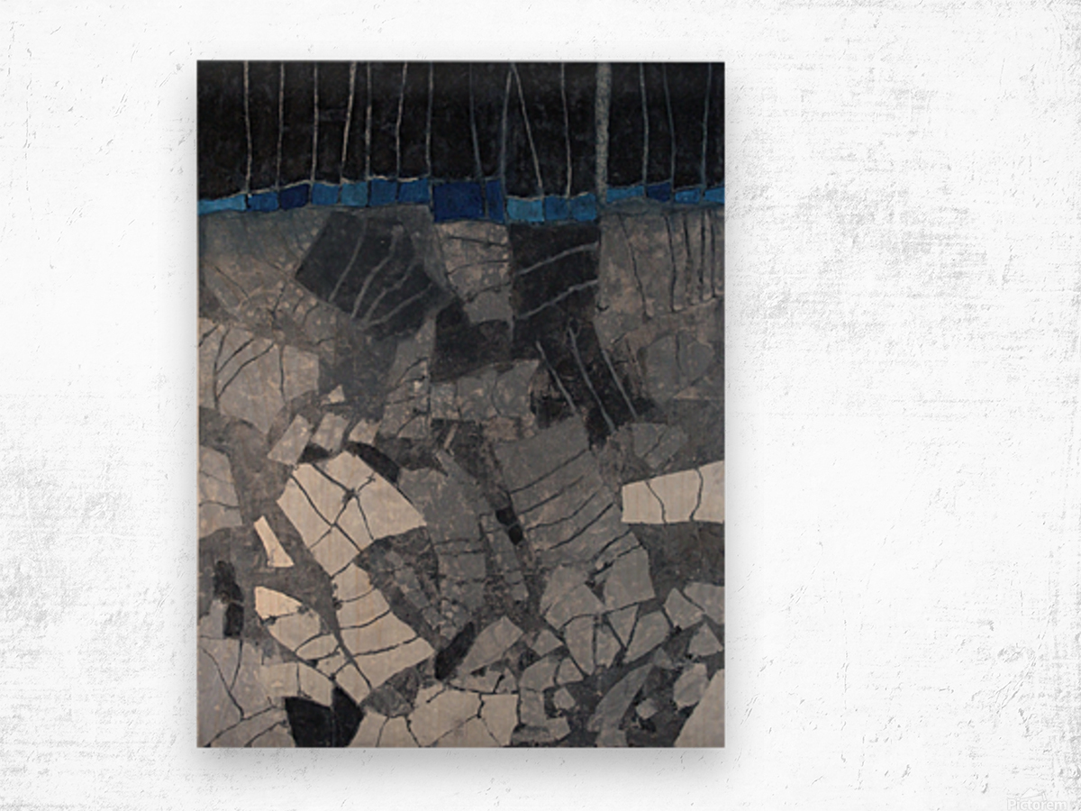 Forgotten-fields-Abstract-Painting Impression sur bois