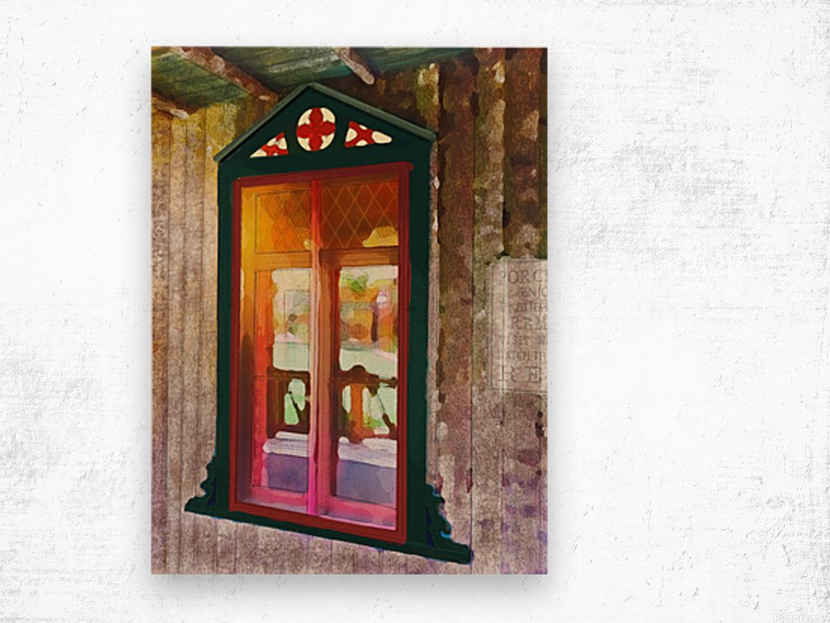 The Hedges Adirondack Window Wood print