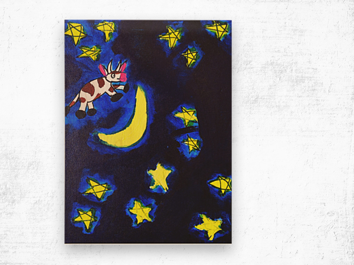 Cow Jumped over the Moon. Dominic H Wood print