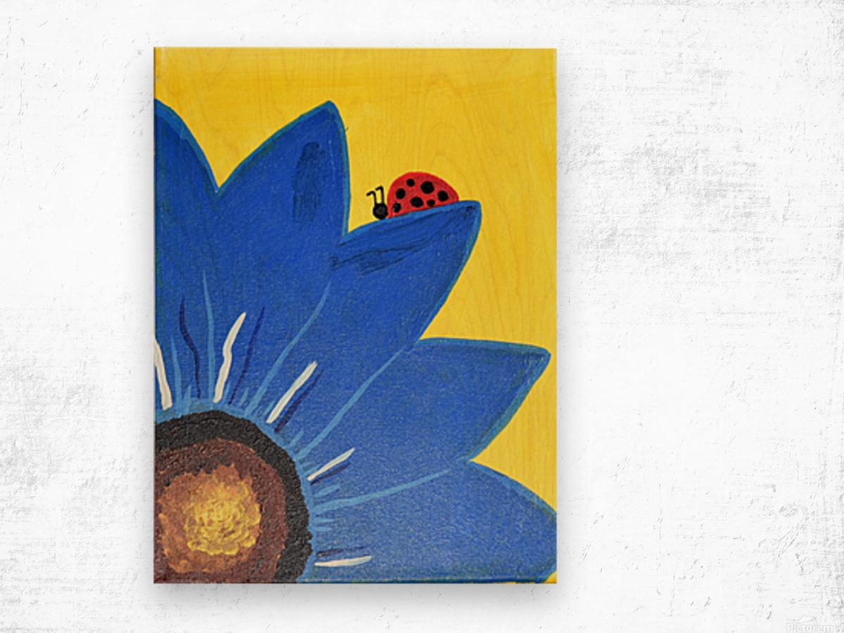 Blue Lady Bug. Maggie Z Wood print