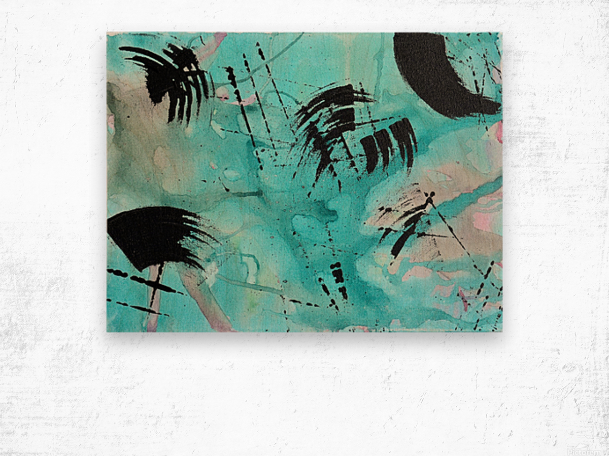 Abstract Watercolor. Geoffory E Wood print