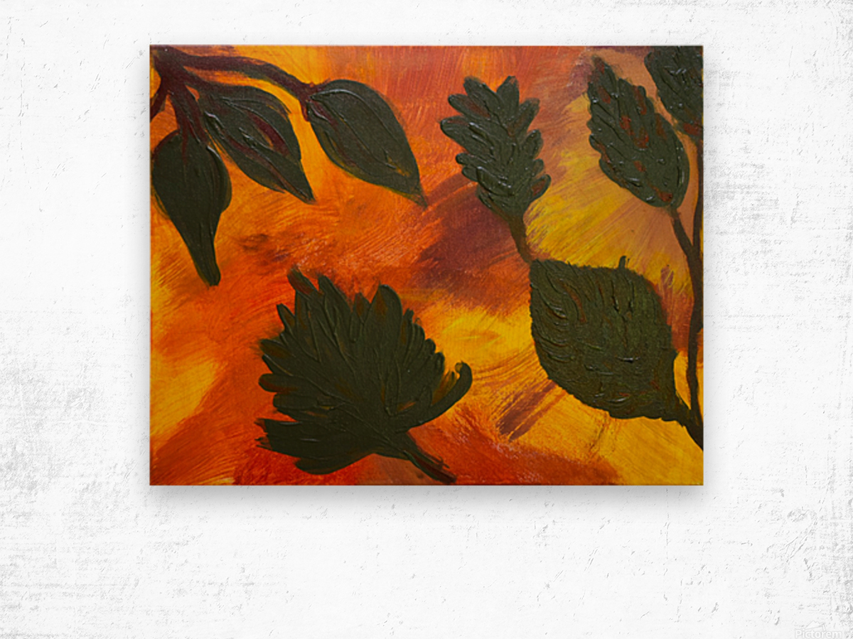 Fall Leaves. Jessica B Wood print