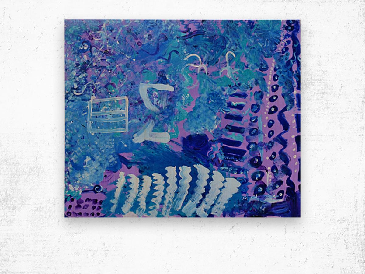 Blue Colab. Arts Education Artist Wood print