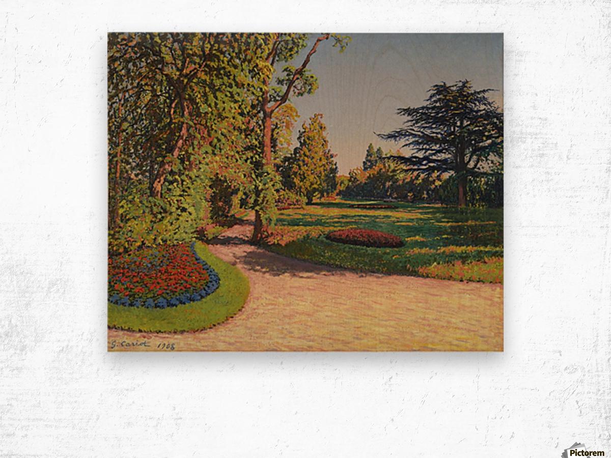 The Garden in Summer Wood print