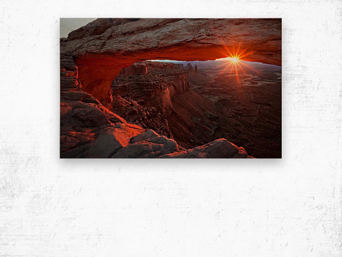 Mesa Arch Sunrise Wood print
