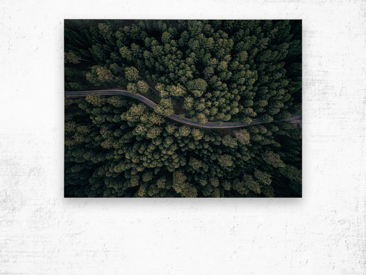 From above Wood print