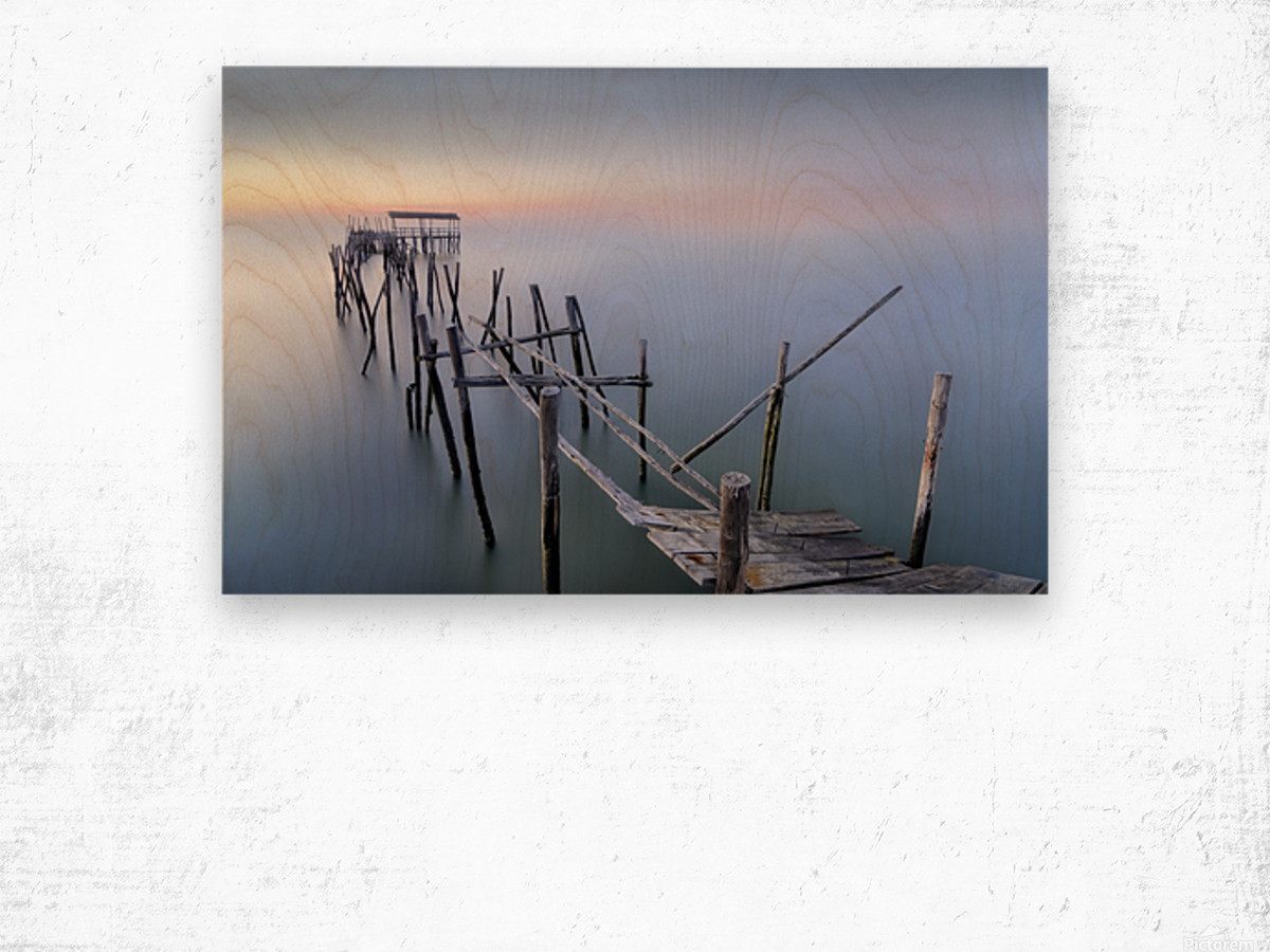 The Old Pier Wood print