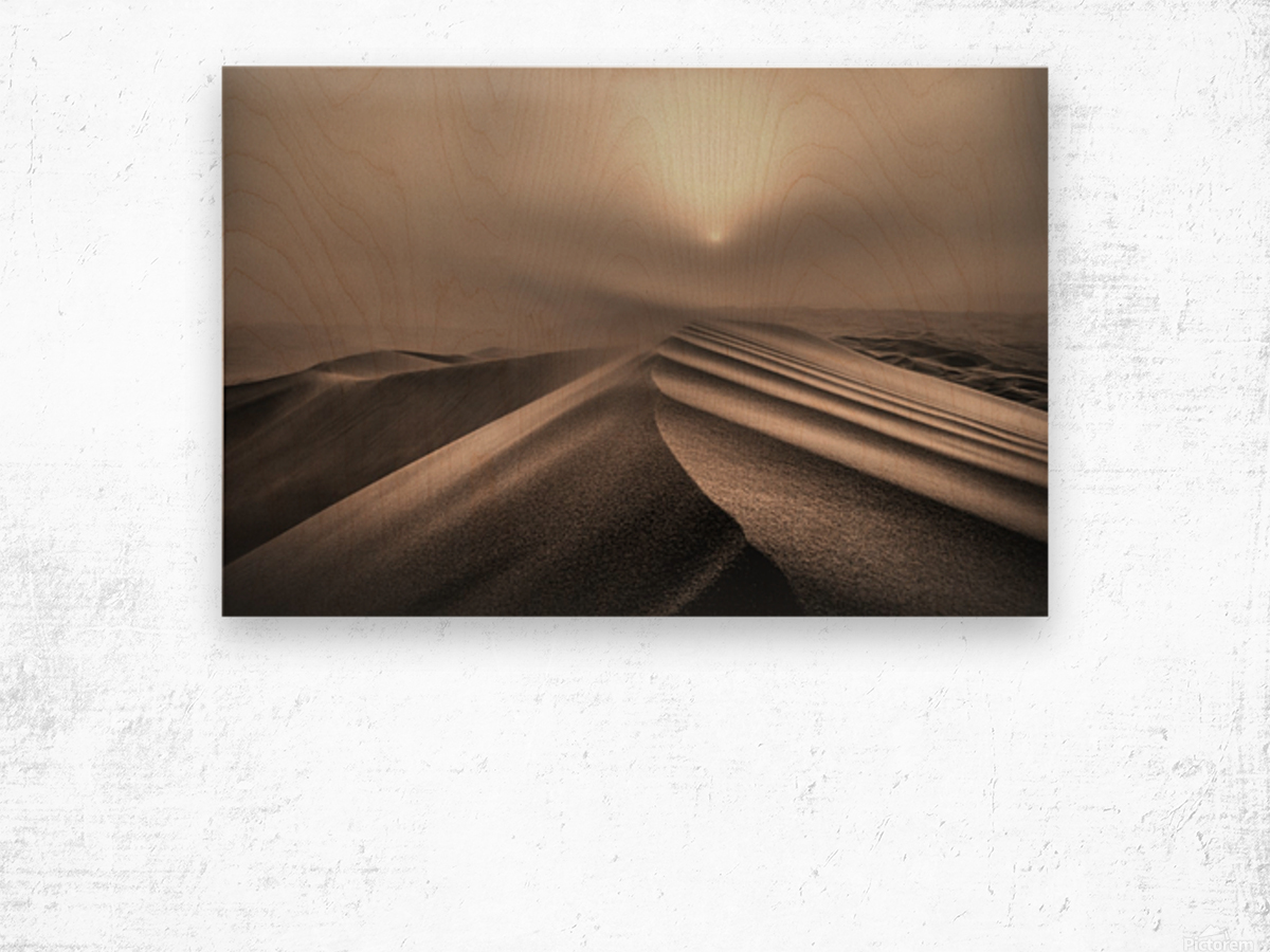 The perfect sandstorm Wood print