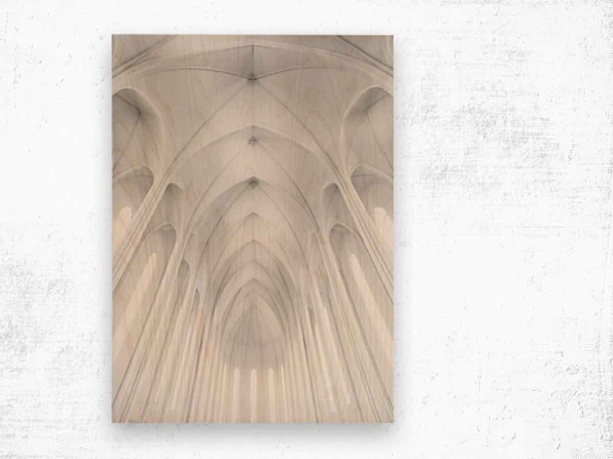 Hallgrimskirkja Church  in Iceland Wood print