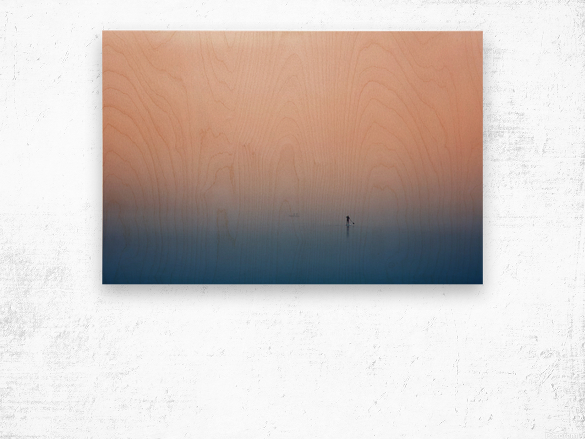 stand up paddling Wood print