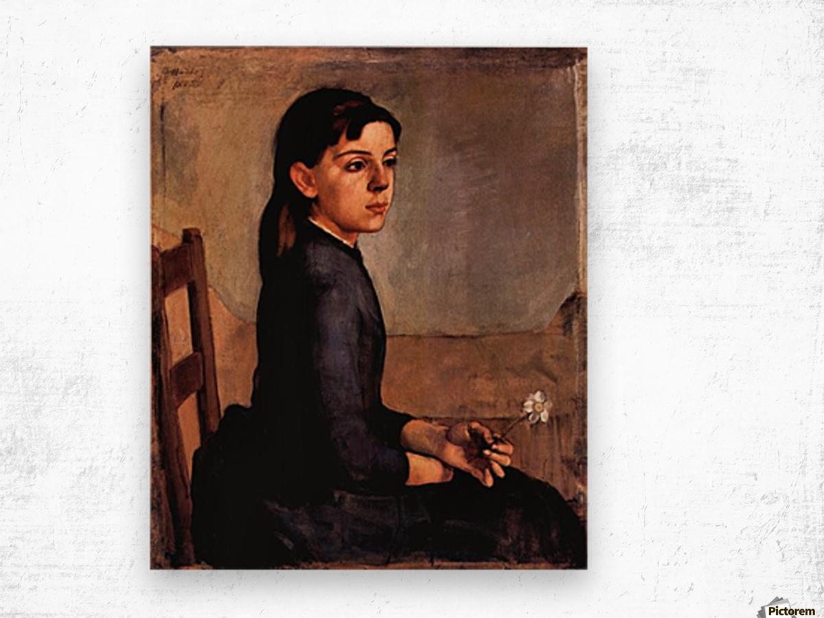 Louise-Delphine Duchosal by Ferdinand Hodler Wood print