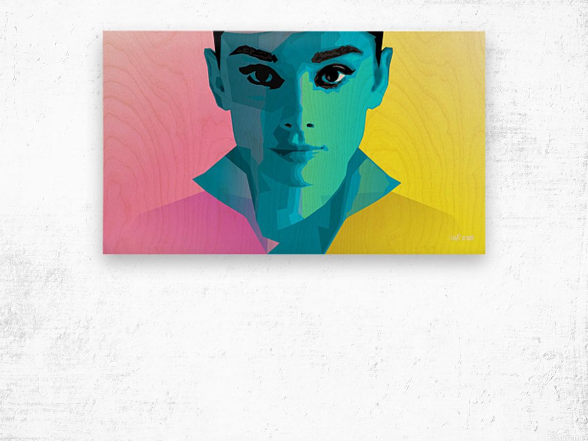 Pop Art Audrey Portrait Wood print