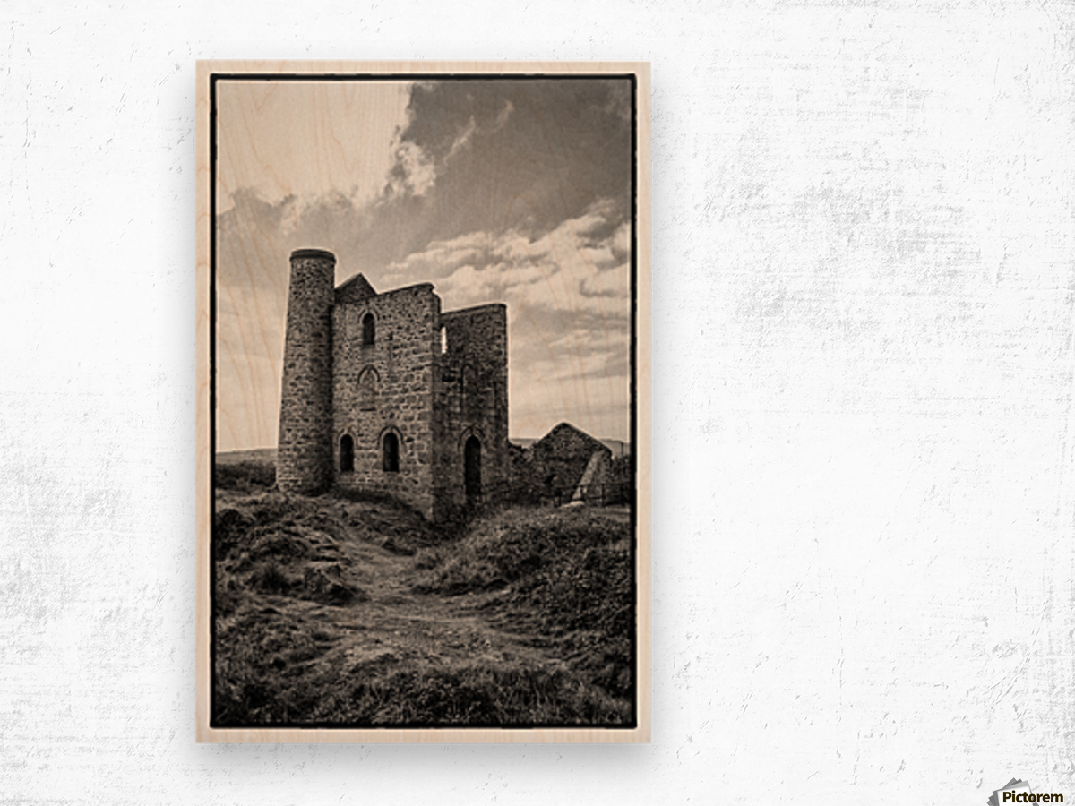 Tin Mine Cornwall Wood print