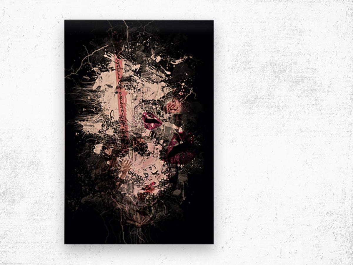 I Love Chanel N°388 Wood print
