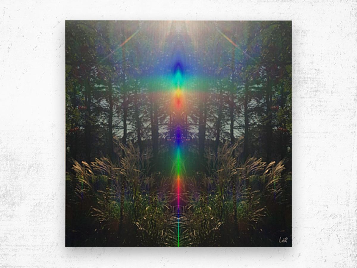 Rainbow Light Wood print