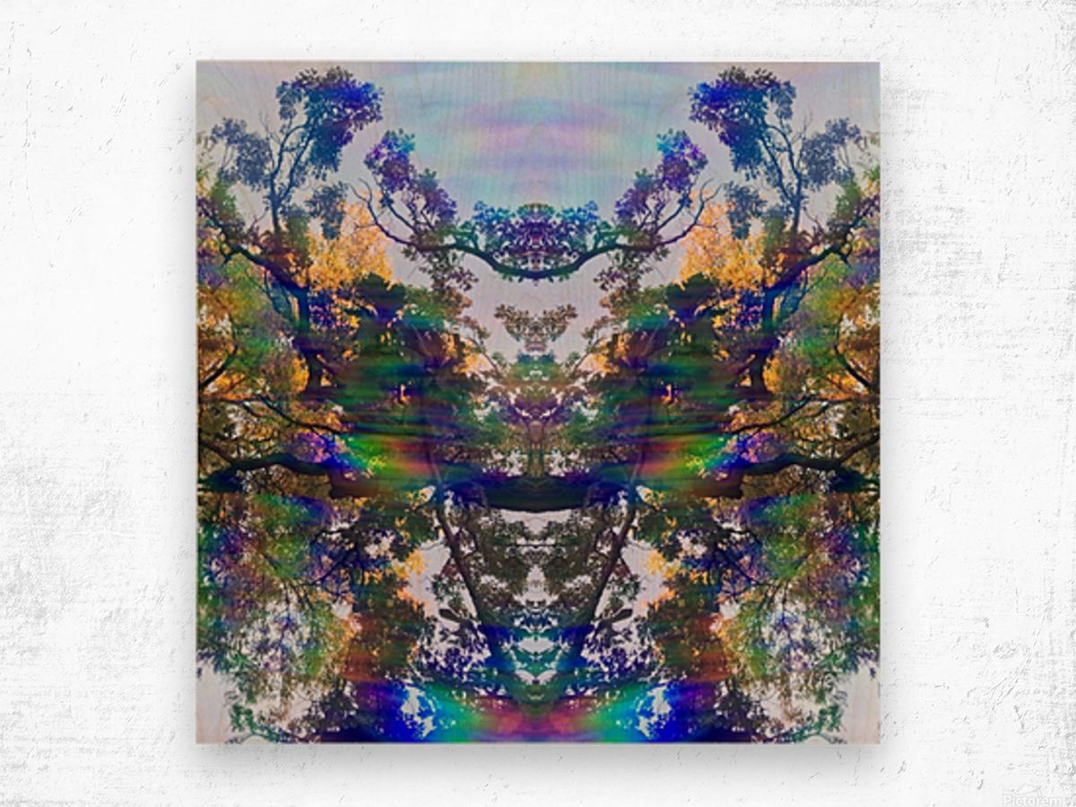 Deer King Wood print