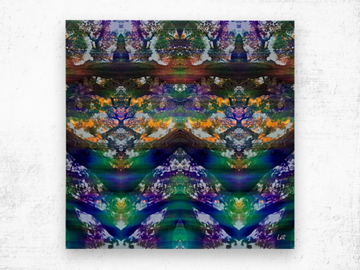 Gnome FaceTime Wood print