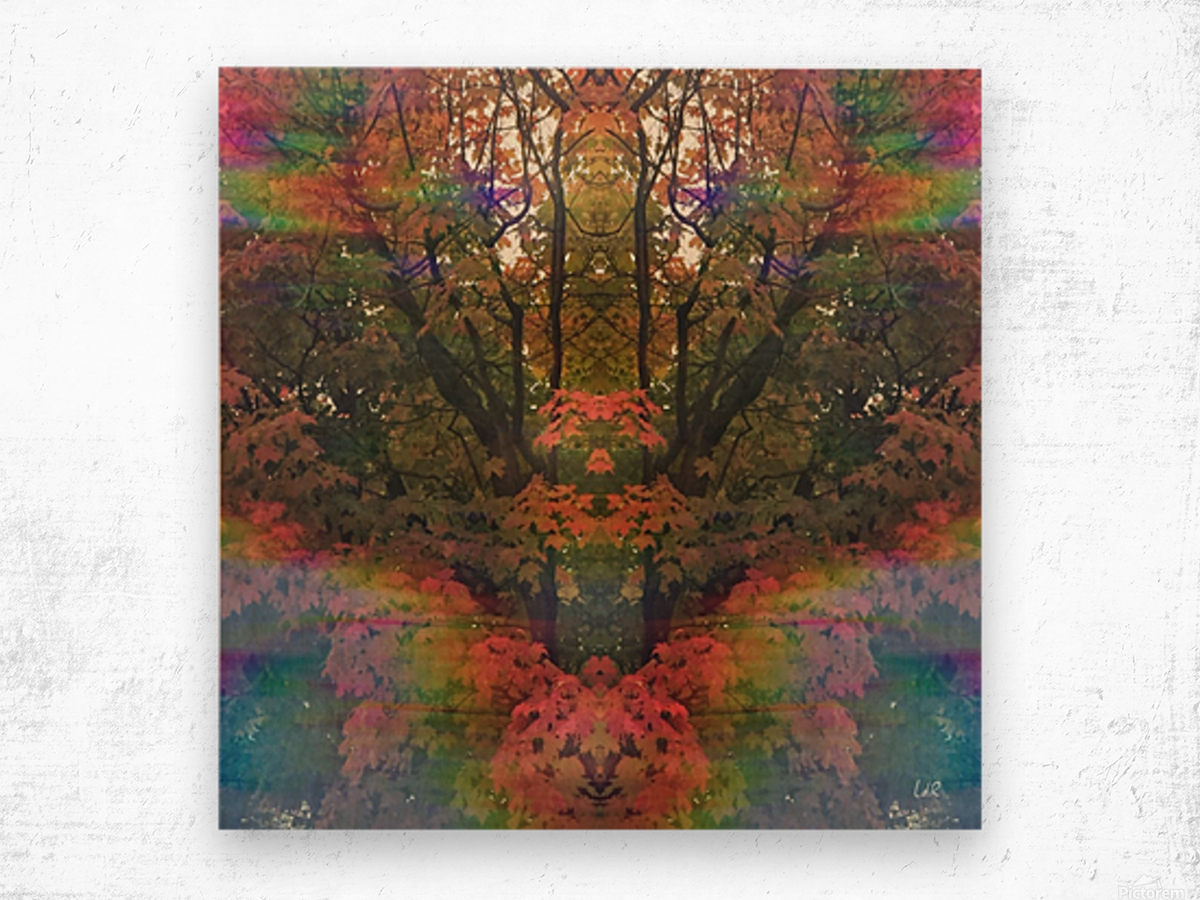The Happy Totem Wood print