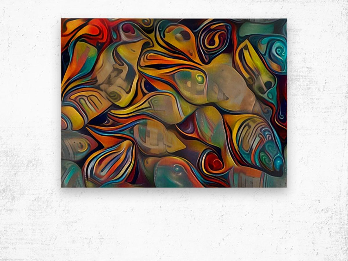 Seashell Colorful Pattern Wood print