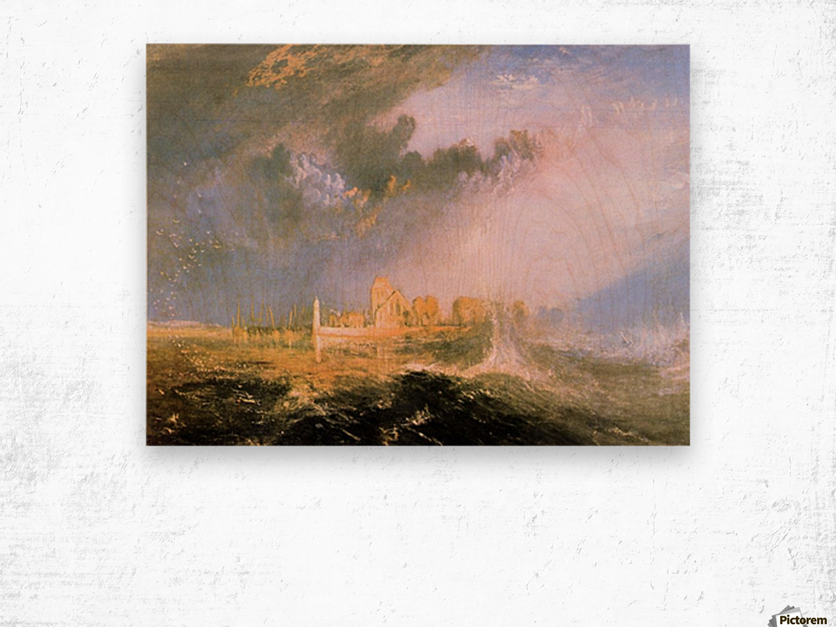 Mouth of the Seine by Joseph Mallord Turner Wood print