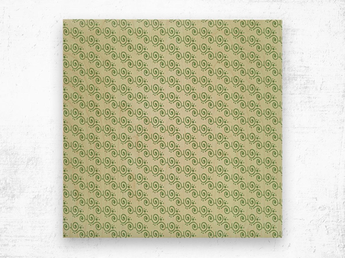 Green Hand Art Design Wood print