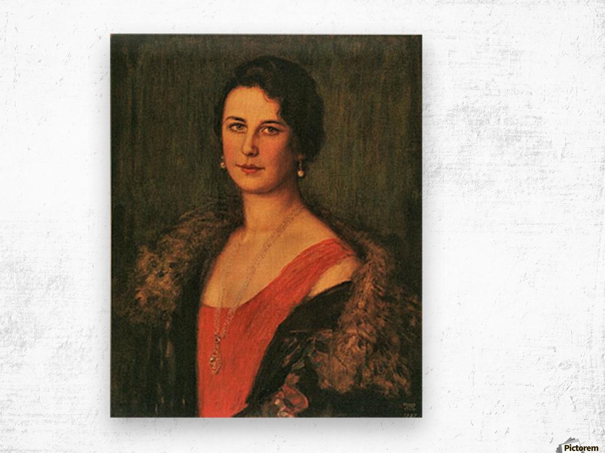 Mrs. Patzak by Franz von Stuck Wood print