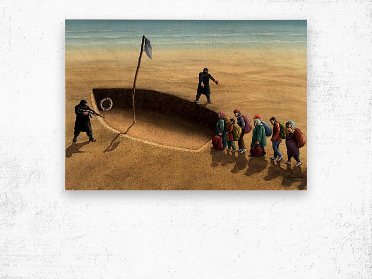 Last emigration by Krzysztof Grzondziel Wood print
