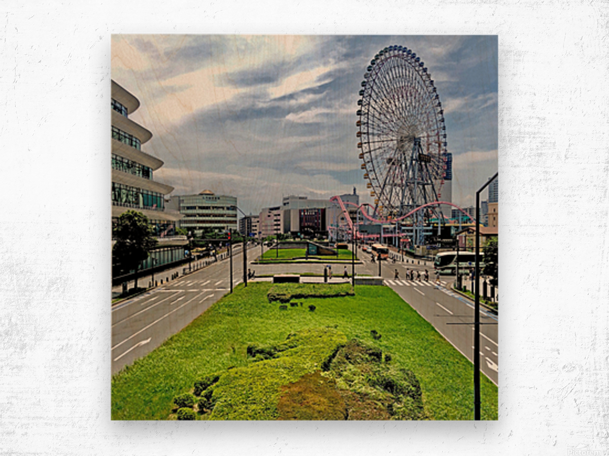 Yokohama Wood print