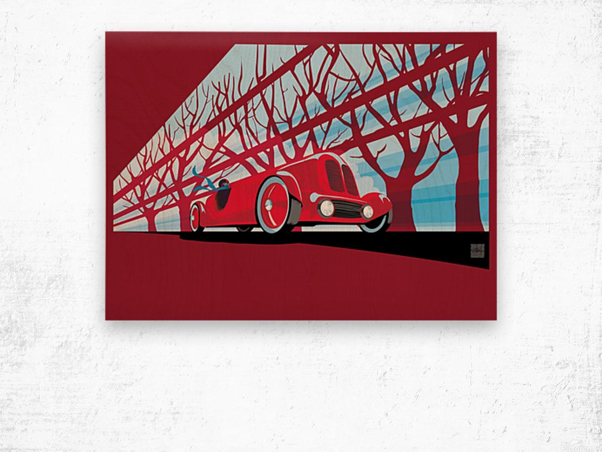 Vintage auto racer Wood print