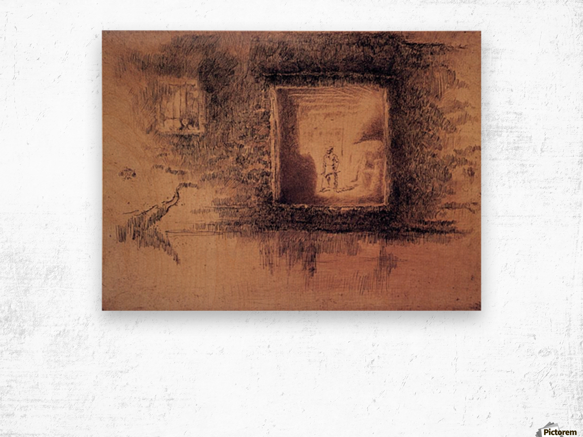 Nocturne, Furnace by Whistler Wood print