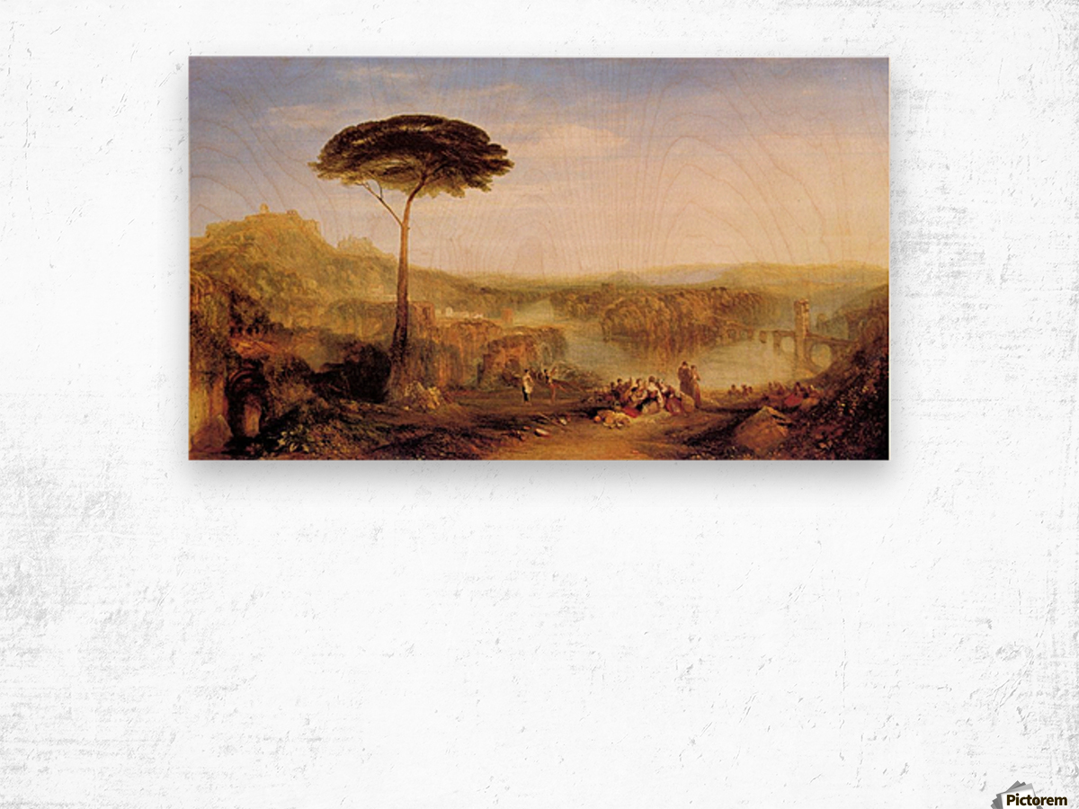 Pilgrimage to Italy by Joseph Mallord Turner Wood print