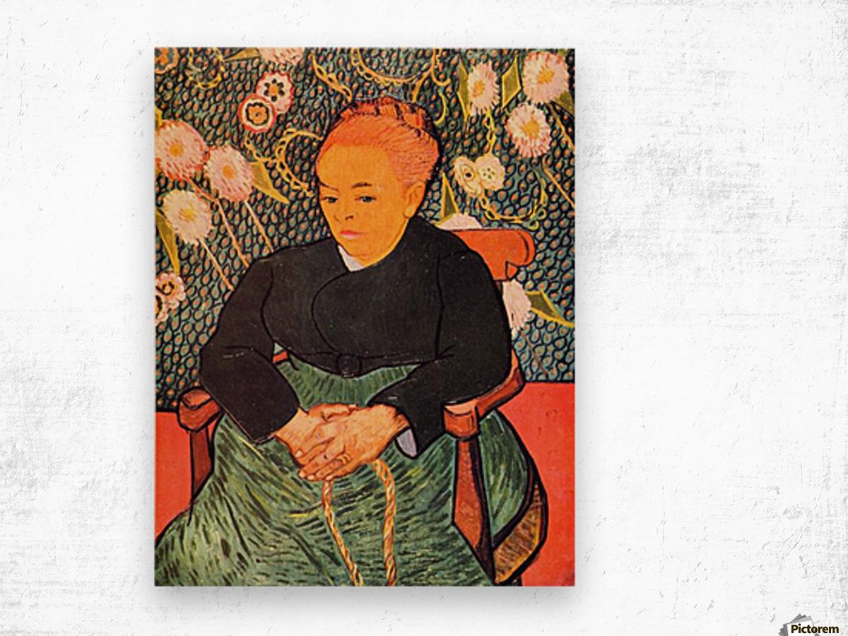 Portrait of Augustine Roulin (La Berceuse by Van Gogh Wood print
