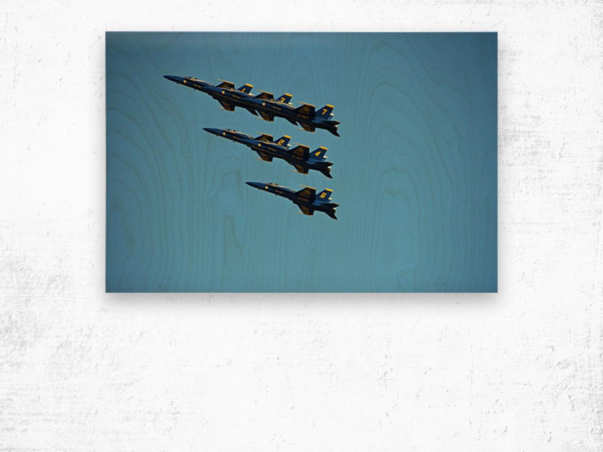 USN Blue Angels Formation Wood print