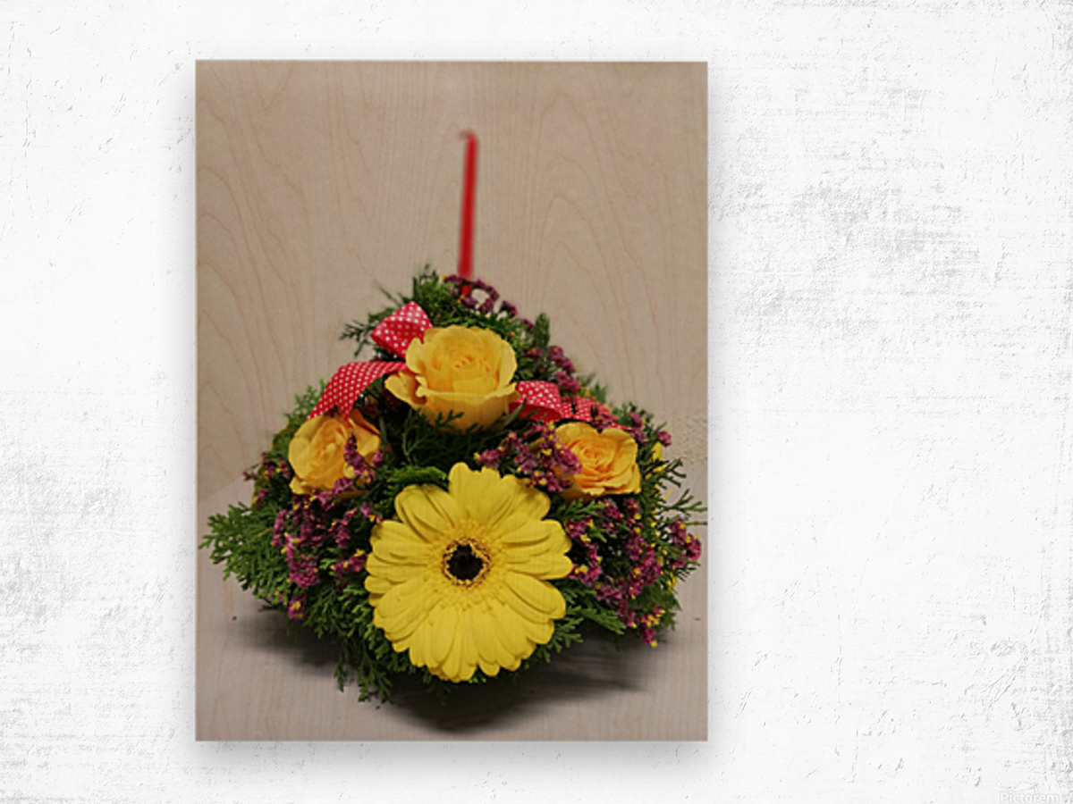 Flower —feel of Happy Merry Christmas coming Wood print